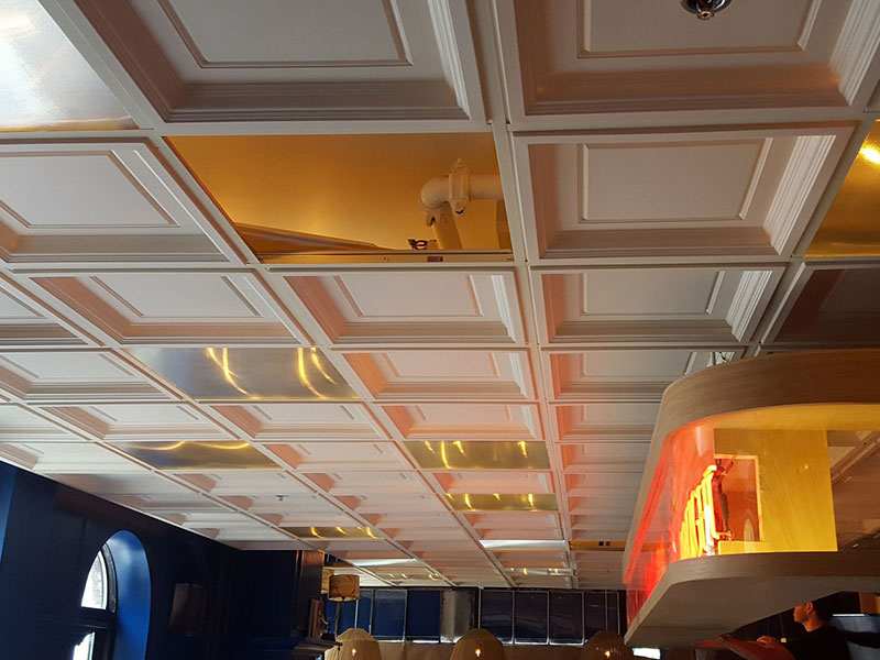 Ceiling renovation in a restaurant